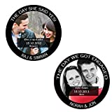 Clixicle Customized The Day Round Coasters, Set Of 2