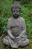 MEDITATING BUDDHA CAST STONE GARDEN ORNAMENT / STATUE / SCULPTURE