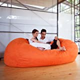 Bean Bag Sofa Color: Microsuede Orange
