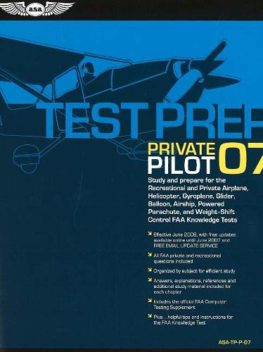 Private Pilot Test Prep 2007: Study and Prepare for the Recreational and Private Airplane, Helicopter, Gyroplane, Glider