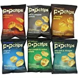 Popchips 6-Flavor Variety Count, 0.8-oz. Single Serve Bags (Count of 24)