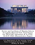 img - for Review and Synthesis of Manatee Data in Everglades National Park: Final Report for USGS/ENP Agreement # IA F5297-04-0119: USGS Administrative Report book / textbook / text book