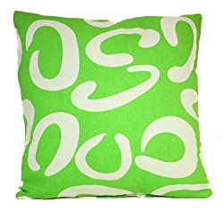Green Symbols Pillow Sham