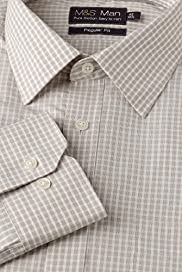 Pure Cotton Quick Iron Mini Checked Shirt