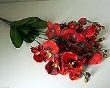 A BUSH of ARTIFICIAL BURNT ORANGE BUTTERFLY ORCHIDS 5 SPRAYS PER BUSH