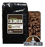 100% Colombian Supremo Coffee, 5 Lb. Bag, Whole Bean, Fresh Roasted Coffee LLC