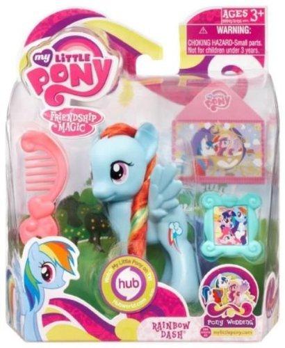 My Little Pony マイリトルポニー Figure Rainbow Dash, Pony Wedding series フィギュア 人形 おもちゃ (並行輸入)