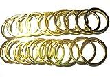 レザークラフト 平押二重リング 30mm 真鍮無垢 黄銅 生地仕上げ 10個セット (金色20個)