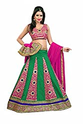 PariFashion Womens Georgette Lehenga Choli(PF2_Multi-Coloured_Free Size)