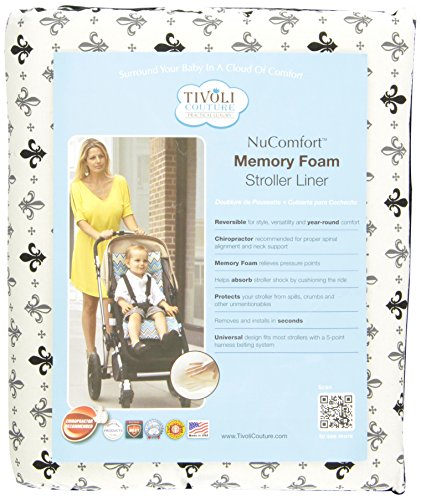 Tivoli Couture Nu Comfort Memory Foam Stroller Pad and Seat Liner, Filigree