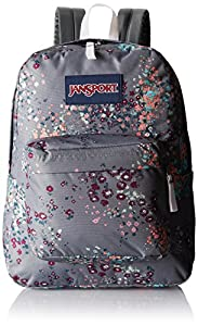 JanSport Superbreak Backpack - Shady Grey Sprinkled Floral / 16.7