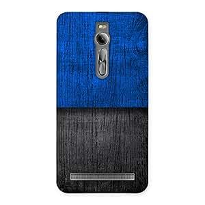 Impressive Blue Black Print Back Case Cover for Asus Zenfone 2