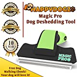 The Magic Pro Dog Deshedding Tool Reduces Shedding By 95% -The Best Deshedding Tool To Easily Remove Shed Hair -Unique Shedding Blade is Gentle On Your Dogs Skin For Both Thin & Thick Coats - 58% Off Retail Price -10 Year Money Back Guarantee