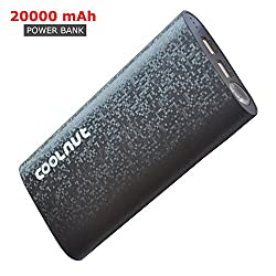 COOLNUT 20000mAh Power Banks For Lenovo, iphone, Xiaomi, Blackberry With Torch (Black)