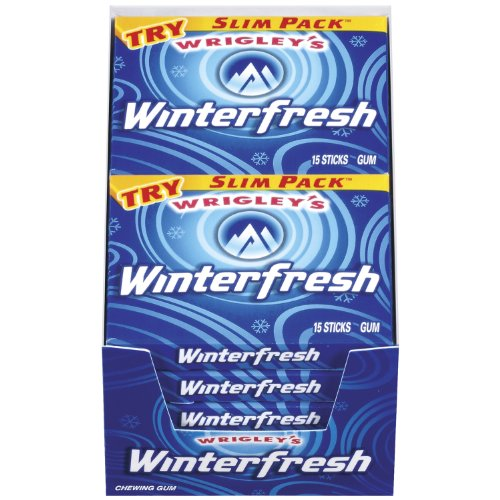 Wrigley s Winterfresh Gum 15-Stick Slim Packs Pack of 20B001D3M5JW