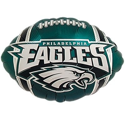 "Anagram International Philadelphia Eagles Flat Party Balloons, 18"", Multicolor"