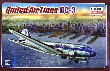 DC-3 United Air Lines 1-144 by Minicraft - Buy DC-3 United Air Lines 1-144 by Minicraft - Purchase DC-3 United Air Lines 1-144 by Minicraft (Minicraft Models, Toys & Games,Categories,Construction Blocks & Models,Construction & Models,Vehicles,Aircraft)