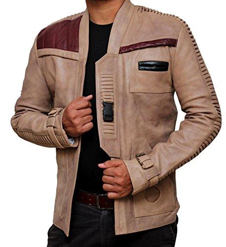 Star Wars Finn Pilot Jacket - Poe Dameron Jacket (M, Antique Beige)