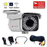 51K3KSVwiKL. SL160 VideoSecu Day Night 700TVL Security Camera 1/3 SONY Exview CCD II EFFIO E DSP 4 9mm 3X Zoom Lens 65 IR Leds for CCTV DVR Home Surveillance with Mini Audio Microphone, Power Supply and Audio Video Power Extension Cable CKB