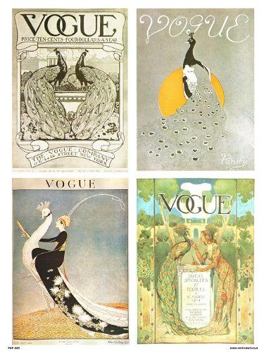 Vogue Vintage Covers Pop Art Poster Print Multi Birds (PDP 025)