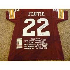 Signed Doug Flutie Jersey - Stat Heisman 84 - JSA Certified - Autographed College...