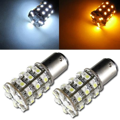 Orion Technology Dual Color White And Amber 1157 1034 2357 60-Smd Switchback Led Bulbs For Car Turn Signal,Parking Lights