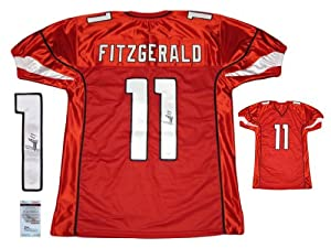 Larry Fitzgerald Autographed Signed Red Jersey - Arizona Cardinals Autograph