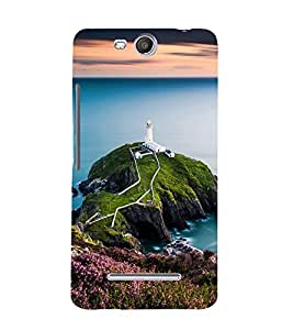 printtech Watchtower Sea Ocean Back Case Cover for Micromax Bolt Q338