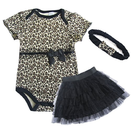 iEFiEL Baby Girls Cotton Polyester Outfit Gold Black Size 9 Months