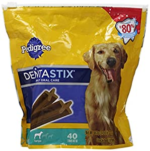 Pedigree Dentastix Daily Oral Care Dog Treats, 40 Count