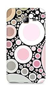 Amez designer printed 3d premium high quality back case cover for Samsung Galaxy J3 (2016 EDITION) (Pink pearls abstract)