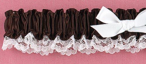 Espresso Ribbon & Lace Garter