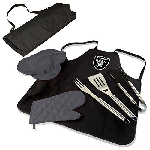 Nfl Oakland Raiders BBQ Apron Tote Pro, Standard, Black