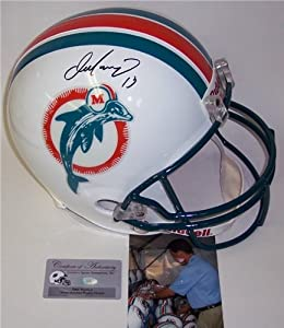Dan Marino Autographed Hand Signed Miami Dolphins Throwback Full Size Helmet by Hall of Fame Memorabilia