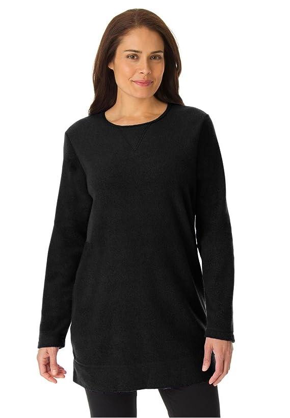 Woman Within Women's Plus Size Sherpa Fleece Top