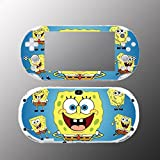Spongebob Squarepants Face Video Game Vinyl Decal Sticker Cover Skin Protector Sony Playstation PS Vita Slim PCH 2000 2001 2002 2003 Console System