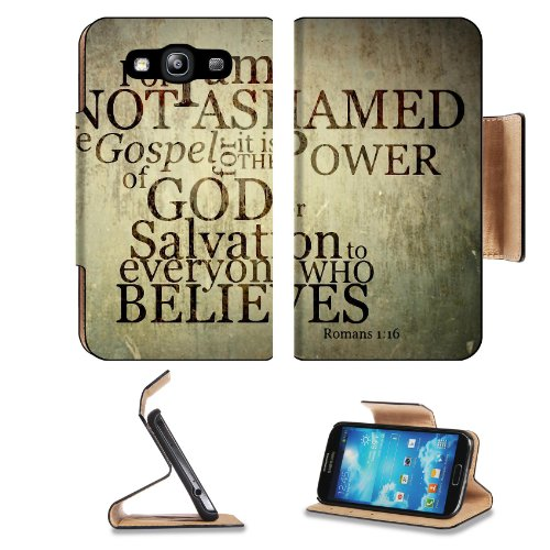 Romans God Salvation Power Beleive Samsung Galaxy S3 I9300 Flip Cover Case With Card Holder Customized Made To Order Support Ready Premium Deluxe Pu Leather 5 Inch (132Mm) X 2 11/16 Inch (68Mm) X 9/16 Inch (14Mm) Liil S Iii S 3 Professional Cases Accessor