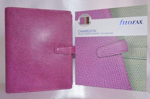 Filofax Chameleon Personal Organiser Leather Snake Print A5 Raspberry Ref 425426