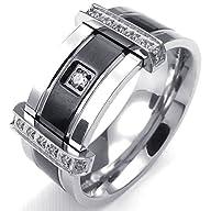 KONOV Jewelry Mens Cubic Zirconia Sta…