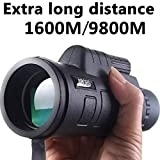 NLGToy Panda 40x60 HD Optical Monocular Telescope Day&Night Vision,for Bird Watching Camping Hunting Wildlife Traveling (Black) (Color: Black)