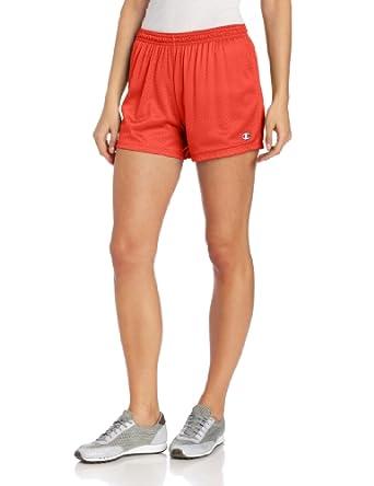 Champion Women's Mesh Short, Fiery Red, X-Small