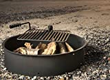 36-Steel-Fire-Ring-with-Cooking-Grate-Campfire-Pit-Park-Grill-BBQ-Camping-Trail