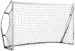QUICKPLAY Kickster Combo - Portable Football Goal & Rebounder - 8x5 ft, Black