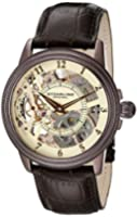 Stuhrling Original Symphony Brumalia Men's Mechanical Watch with Beige Dial Analogue Display and Brown Leather Strap 228.3365K77