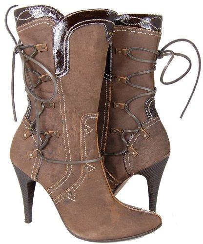 DIESEL Queen Bee Womens Brown Dress Boots