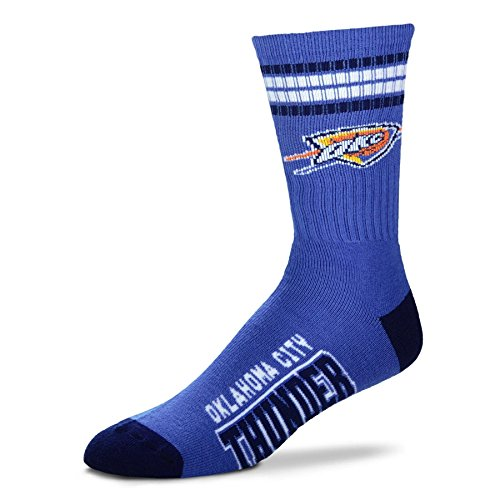 NBA 4 Stripe Deuce Socks - Men's Large (fits 10-13) (Oklahoma City Thunder) (Blue Numbered Basketball Jersey compare prices)