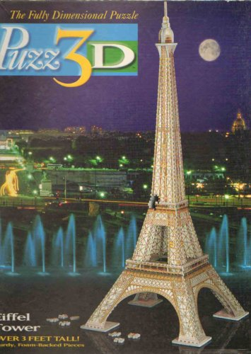 Cheap Milton Bradley Puzz 3D Eiffel Tower 703 Pieces (B001UA26NS)