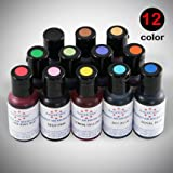 12 Americolor Amerimist Airbrush Food Colors 0.7oz for Cake Decoration