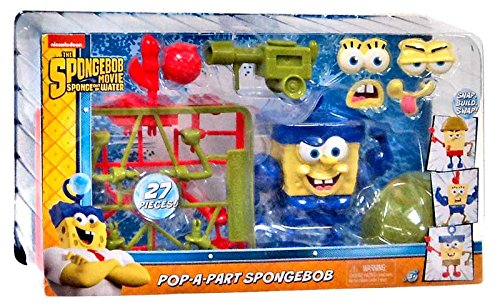 Spongebob Squarepants The Spongebob Movie Sponge Out Of Water Pop-A-Part Spongebob Action Figure - 1