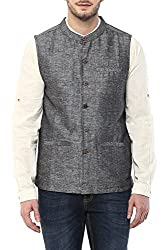 Indus Route by Pantaloons Men's Polyester Waistcoat 205000005638682_ Size_X-Large